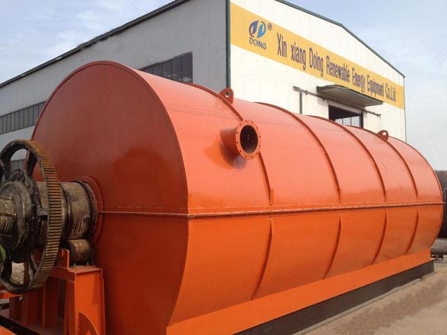 废轮胎循环回收高温裂解炼油机器