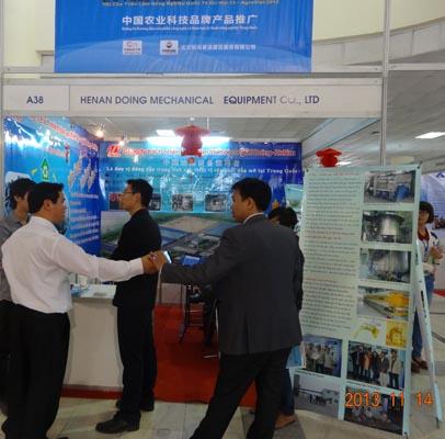 越南展会上询问我公司米糠设备的客户