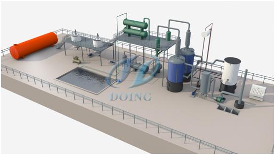 多功能环保型废机油提炼柴油设备