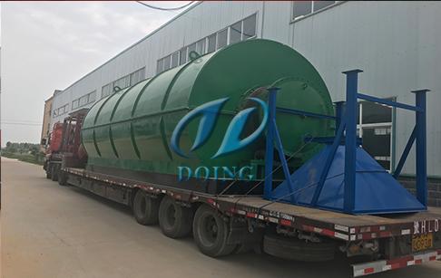 山西垣曲两台12吨废旧轮胎炼油设备发货