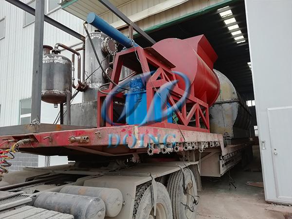 恭喜河南省客户12吨废轮胎炼油设备完成发货