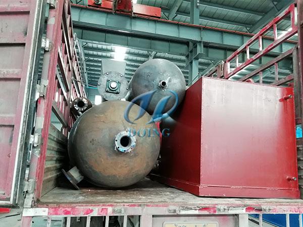 恭喜河南省客户废轮胎炼油设备完成发货