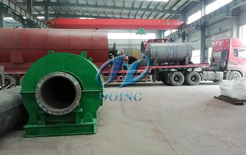 恭喜甘肃省客户废轮胎炼油设备完成发货