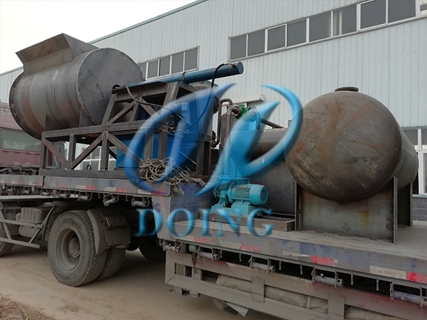 恭喜安徽省客户两台12吨废轮胎炼油设备完成发货