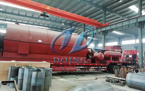 恭喜尼日利亚客户废轮胎炼油设备完成发货