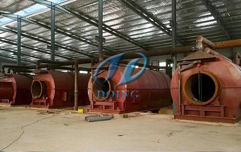 恭喜福建省客户4台12吨废轮胎炼油设备项目成功落成