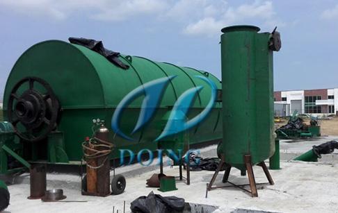 恭喜两台10吨废轮胎综合利用项目落户墨西哥