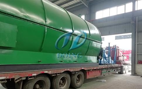 恭喜贵州省客户四台12吨废轮胎炼油设备完成发货