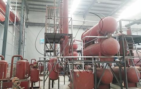 两台12吨轮胎炼油设备成功在江苏地区落户