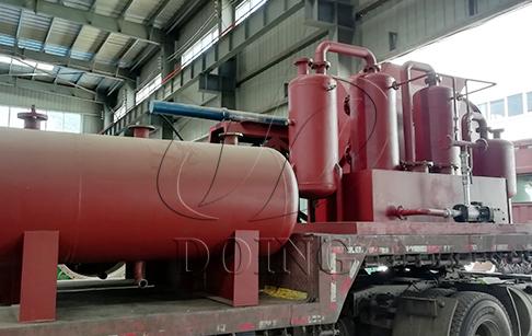 四台12吨轮胎炼油设备发往四川
