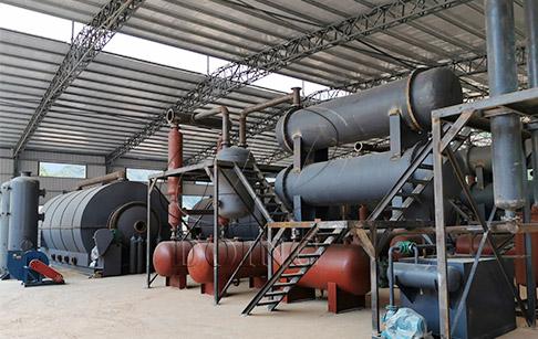 废轮胎裂解炉内部构造与裂解工艺分析